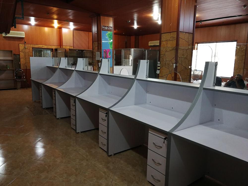 دفاتر پیشخوان M260 5 - کانتر اداری - میز پیشخوان